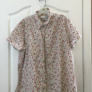 Ladies white stag blouse large 12/14